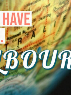 Fun things to do in Melbourne map of Australia