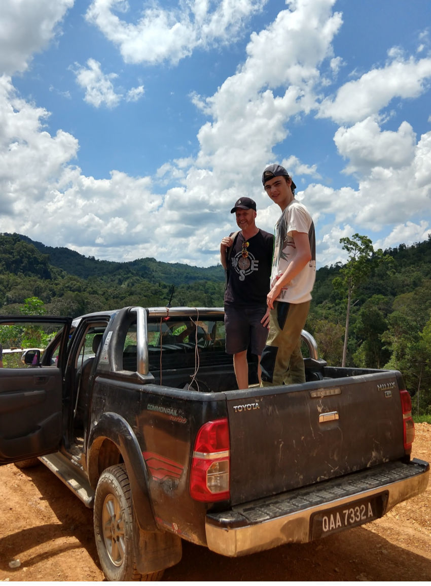 off roading in Borneo