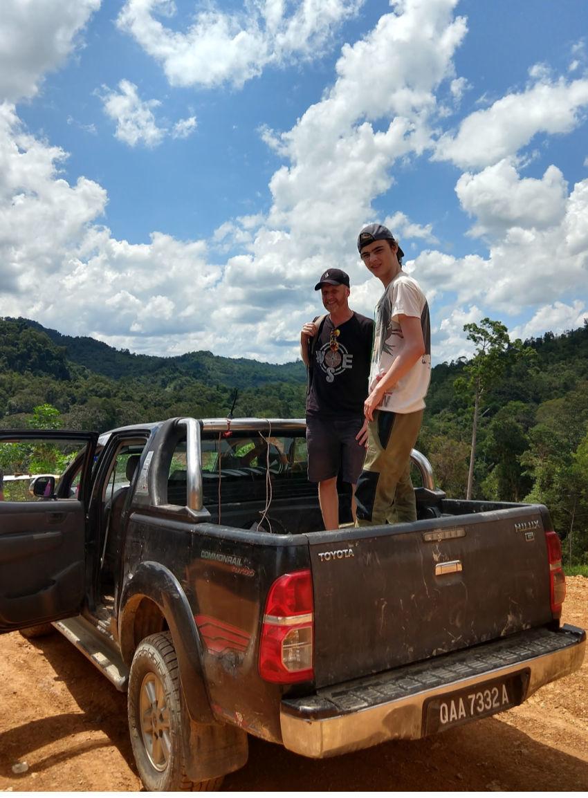 off roading in Borneo