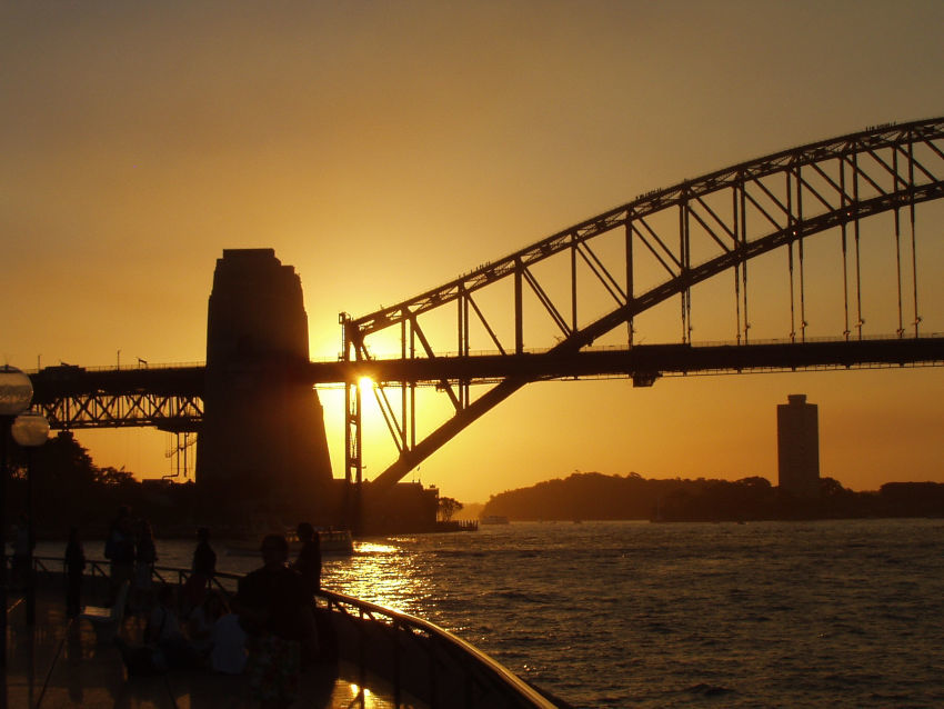 Australia Travel Blog Sydney Harbour Bridge Sunset