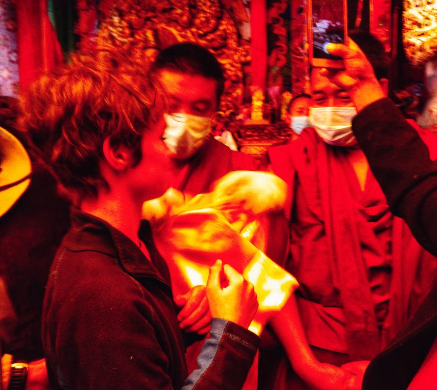 Jokhang Temple itself inside festival