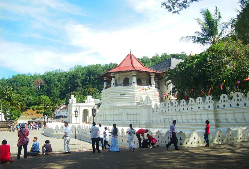 Kandy Sri Lanka. The Temple of the Tooth.