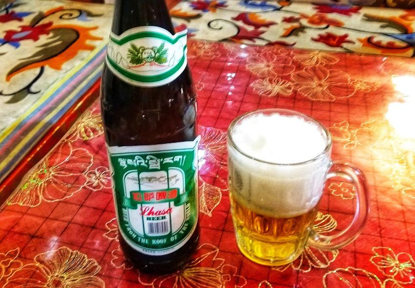 Tibetan beer Lhasa beer