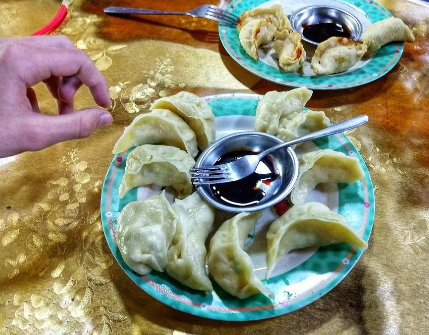classic tibetan dish momos
