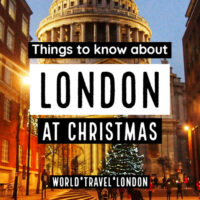 London at Christmas Time 2019