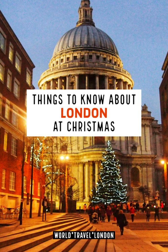 London at Christmas Time uk