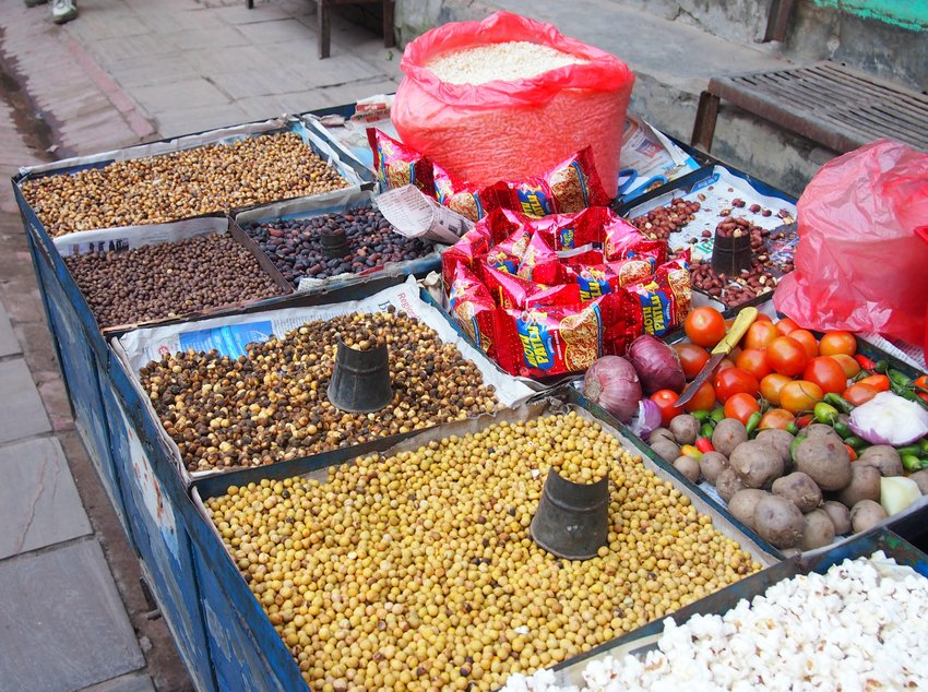 Street Food Cart Nepali Street Food Snacks