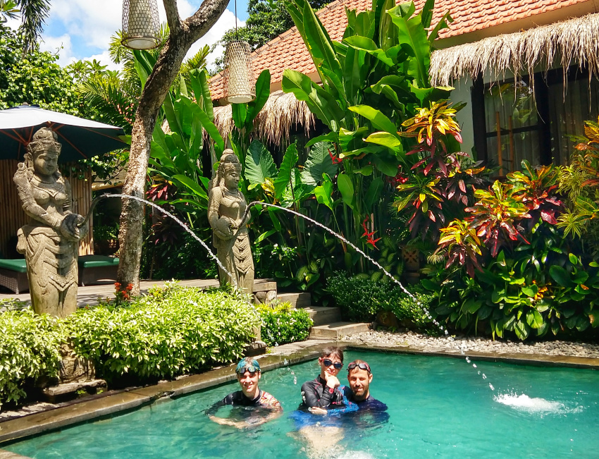 Beautiful Bali Pool and Gardens Bali Family Accommodation