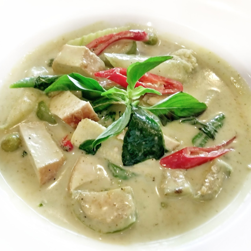 Bowl of Thai Green Curry Thai Food