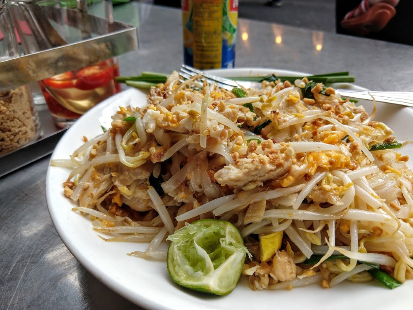 Serve pad thai with lemon or lime ground peanuts prik nam pla What is Thai Food pad thai noodles