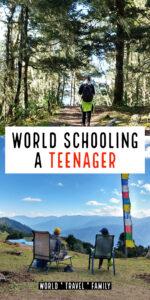 World Schooling a teen