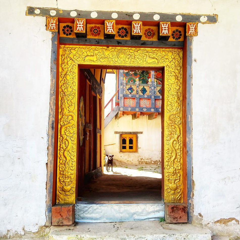 Is it worth visiting Bhutan - monastery door at one of the three temples above the Tiger's Nest, Paro