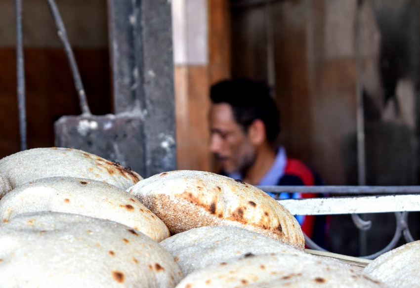 Food in Egypt Egyptian Baladi Bread Bakery in Giza