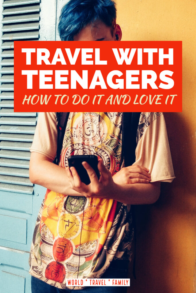 How to Travel With Teenagers teen with phone