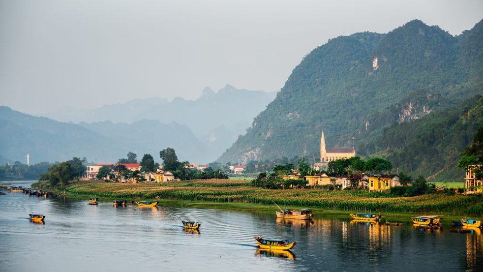 Staying on the river Phong Nha Ke Bang National Park Vietnam
