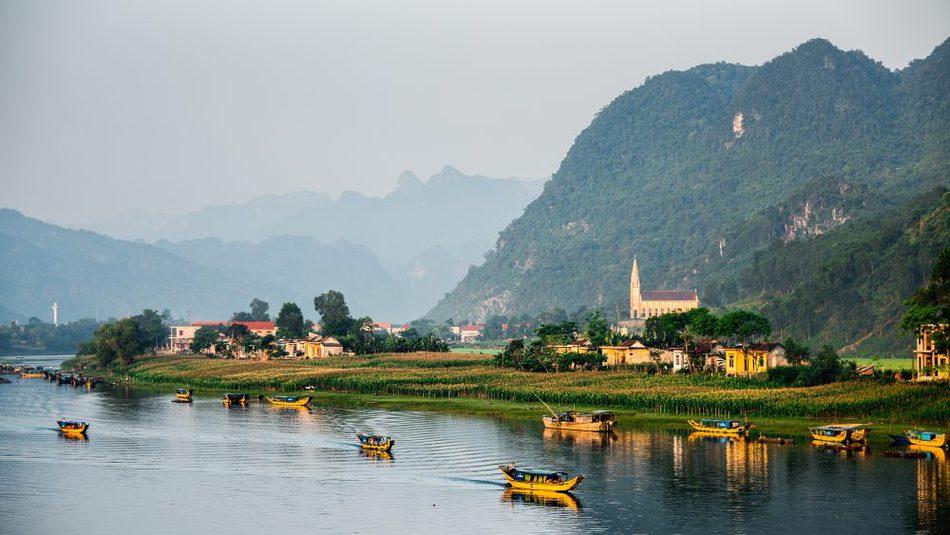 Staying on the river Phong Nha Ke Bang National Park Vietnam
