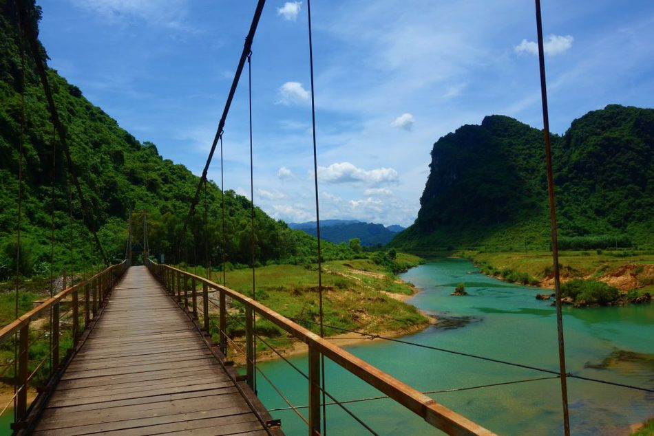 Bridge Phong Nha Park and caves Vietnam