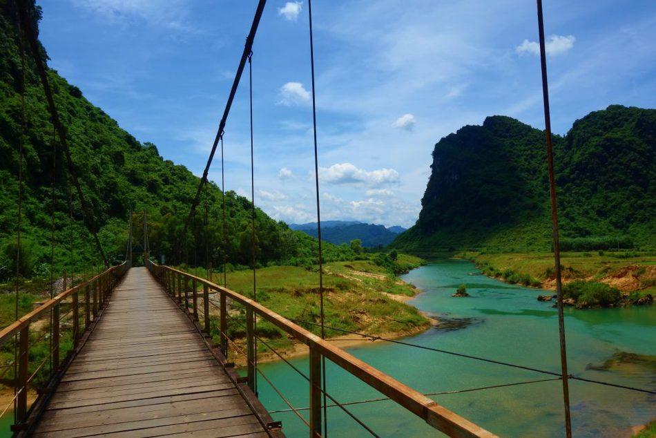 Bridge Phong Nha Park and caves Vietnam