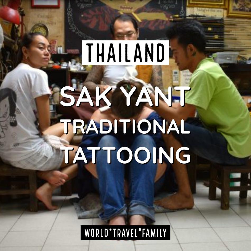 Traditional Thai Tattoo Bangkok Thailand