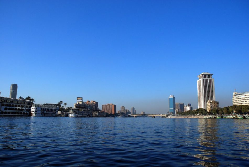 hotels and nile cruise ships on the nile in Cairo Egypt