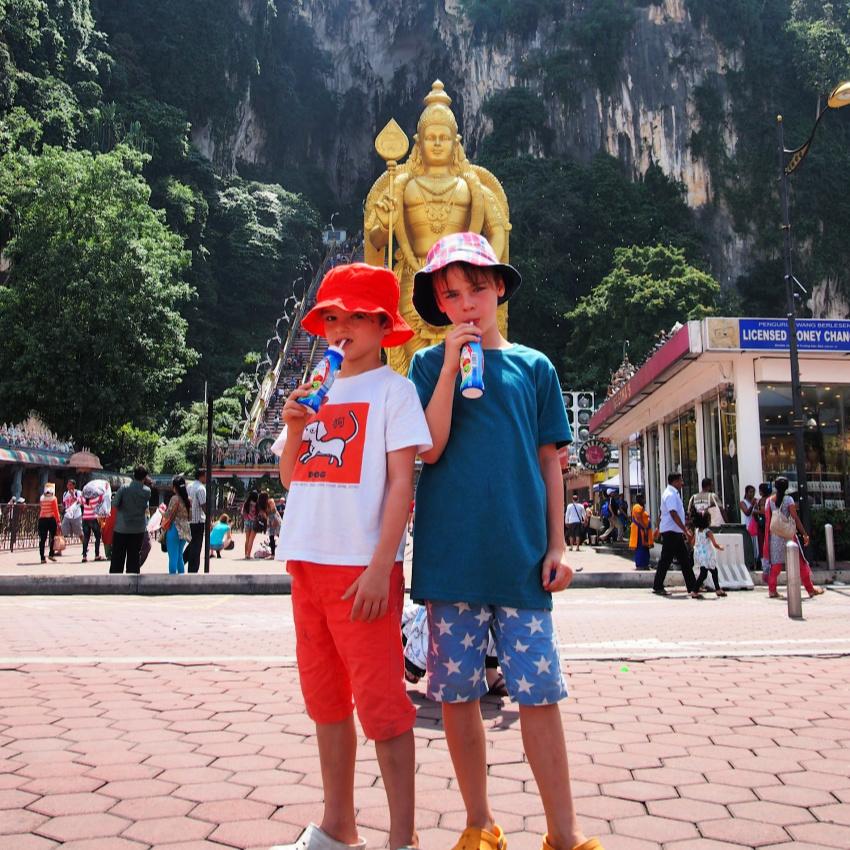 Kids at Batu Caves Kuala Lumpur With Kids Batu Caves With Kids