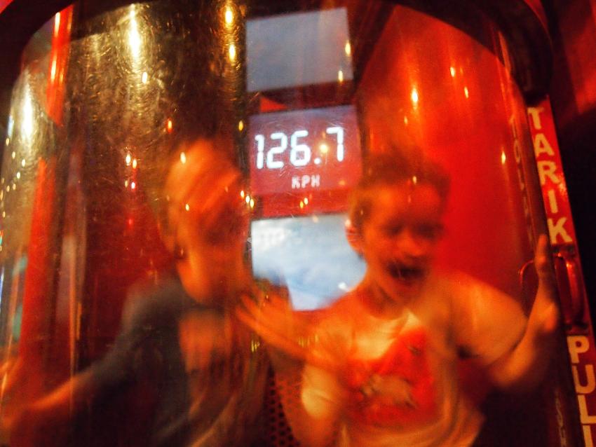 Kids enjoying cyclone simulator Petrosains Discovery Science Museum With Kids Kuala Lumpur