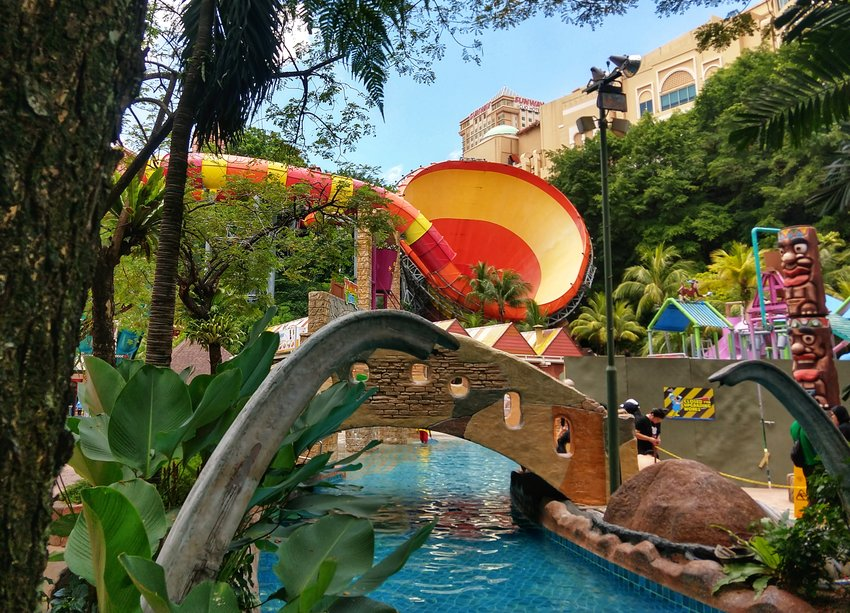 Sunway Water Park Theme Park Lagoon Kuala Lumpur With Kids