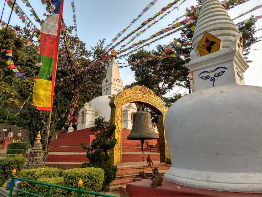 Swayambhunathat western entrance peace park