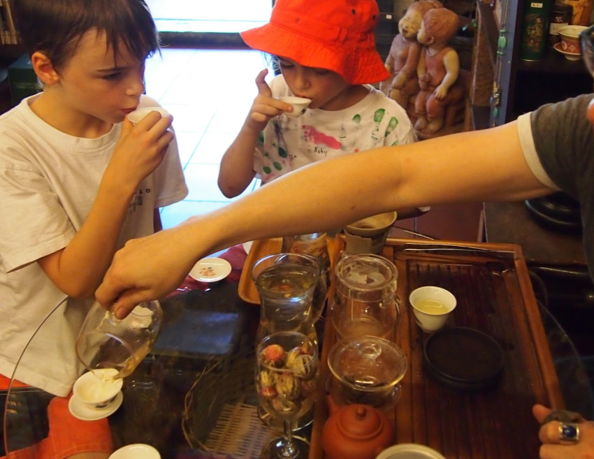 Things to do in KL with Kids Tasting Tea in Kual Lumpur with kids