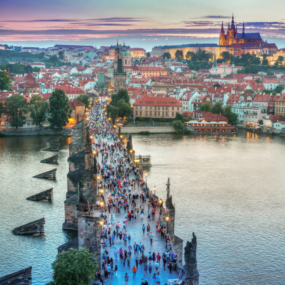 best places to visit in europe prague city bridge