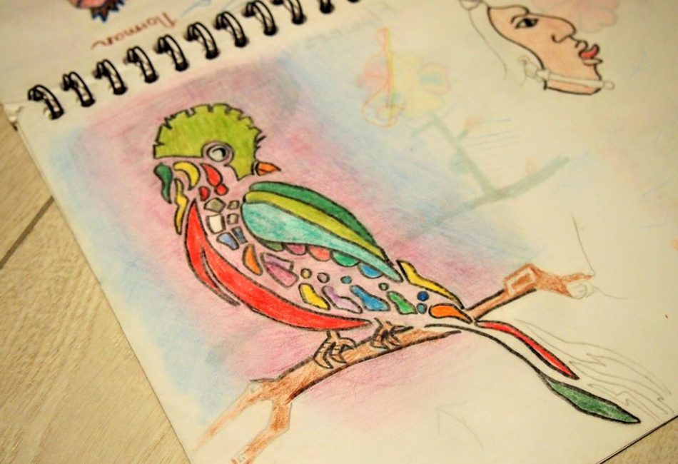 Stuck at home art ideas colouring drawing