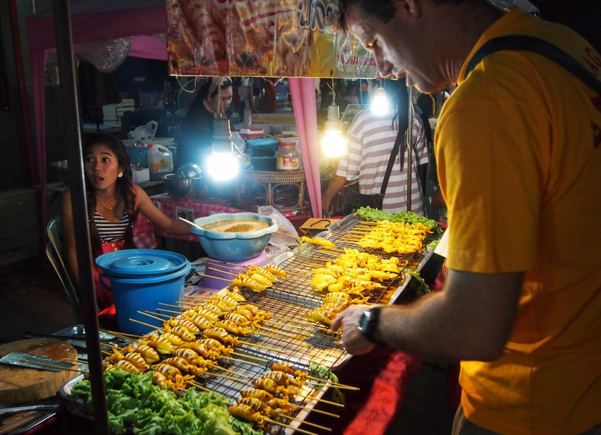 Thing to do in Kanchanaburi street food at the night market