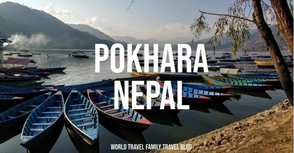 the lake and boats Pokhara Nepal