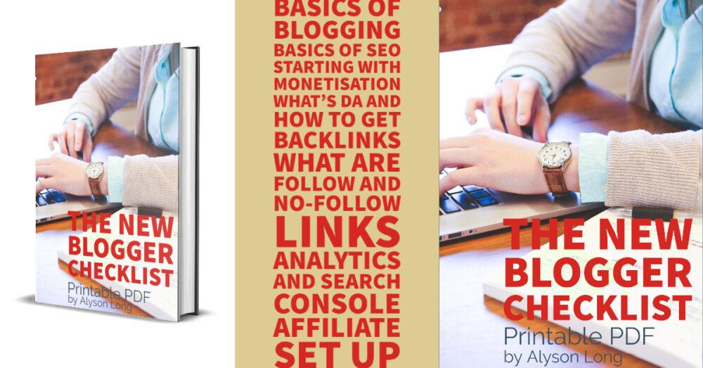 The new blogger checklist