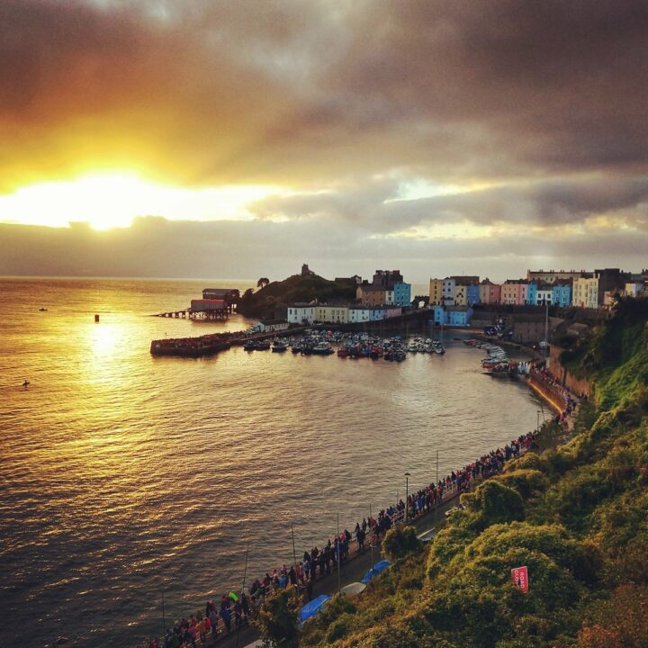 Dawn Tenby fishing harbour south wales travel destinations