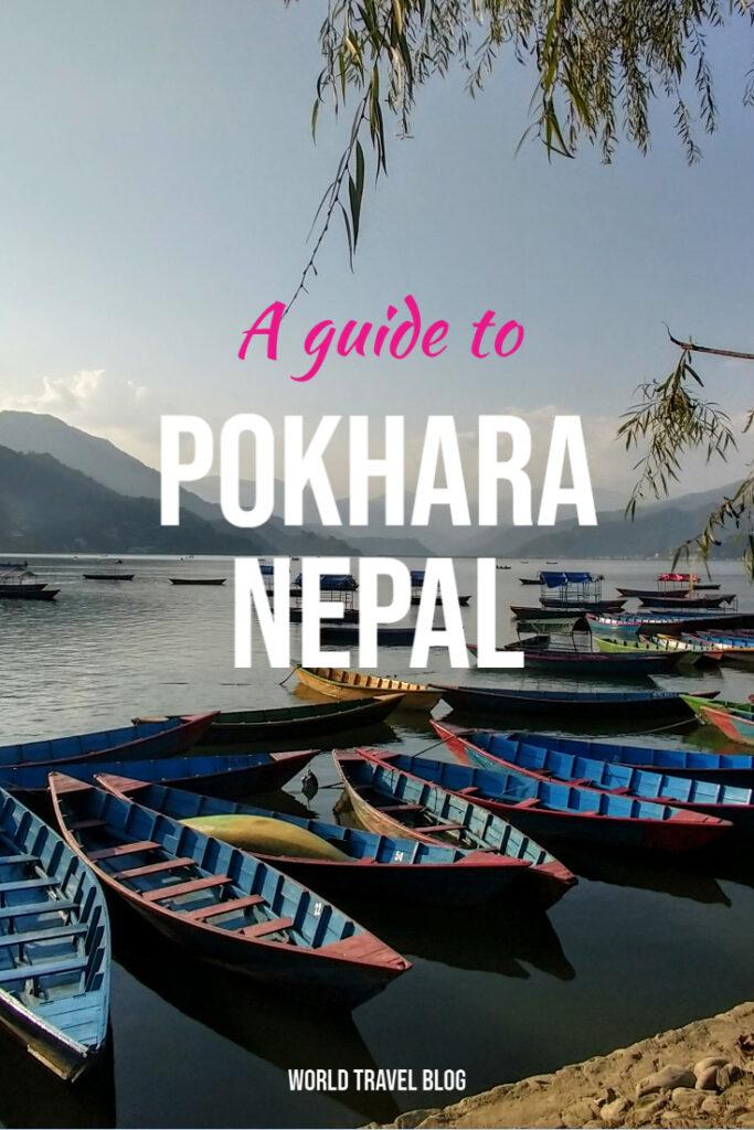 boats on Phewa Lake a guide to Pokhara Nepal