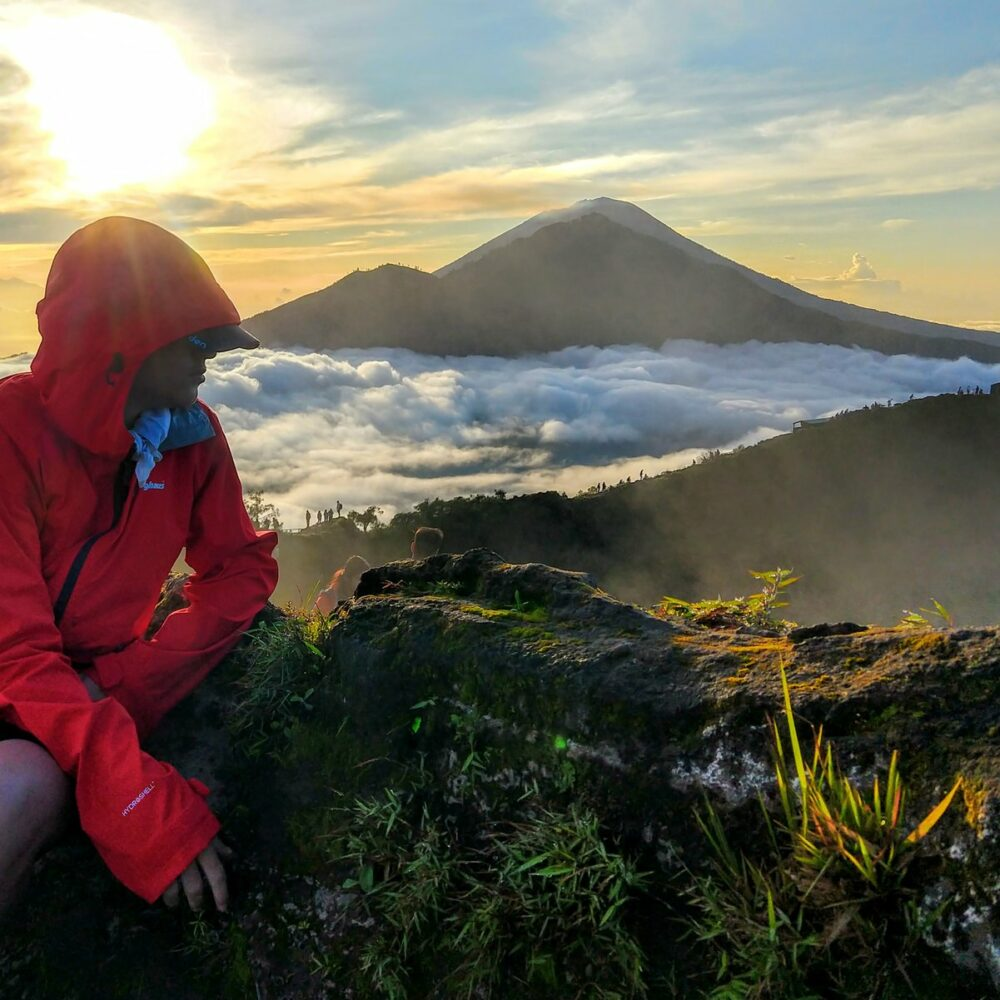 Dawn volcano hike Bali. Bali as a travel destination