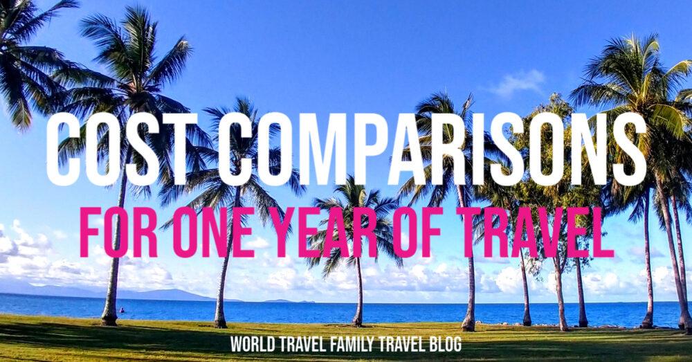 一年旅行的费用比较