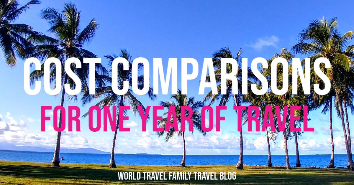cost comparison for one year of travel