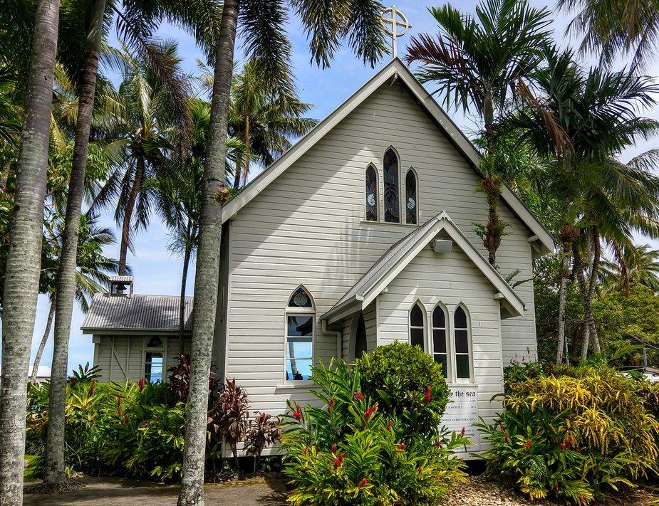St Mary's by the sea white church chapel port douglas