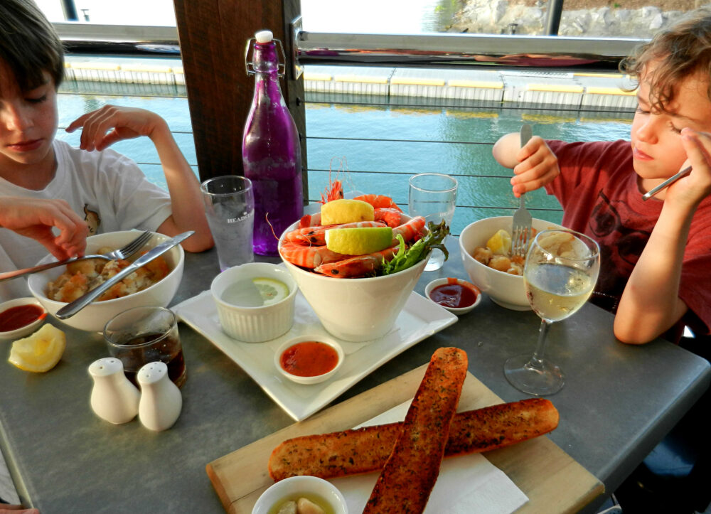 Family dining at a restaurant in Port Douglas