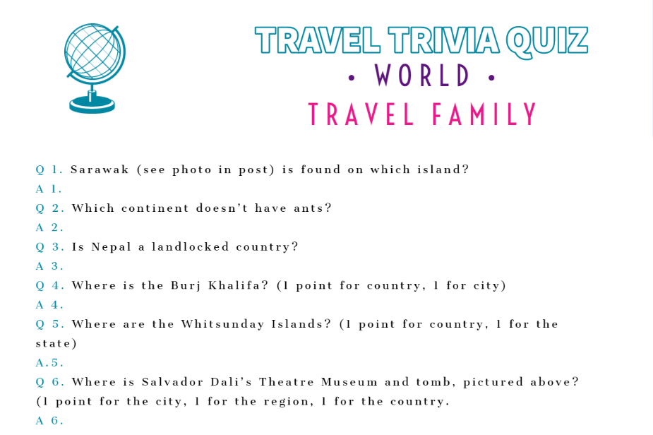Travel Trivia Quiz Questions