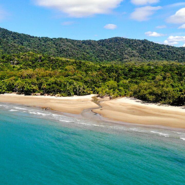 Beautiful beach and rainforest Australia