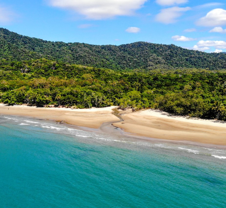 Beautiful beach and rainforest Australia
