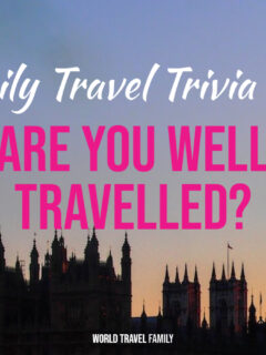 Are You Well Travelled Quiz