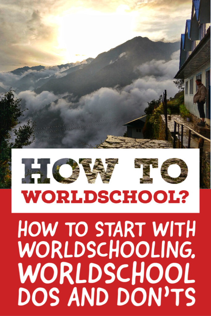 How to Worldschool for Pinterest
