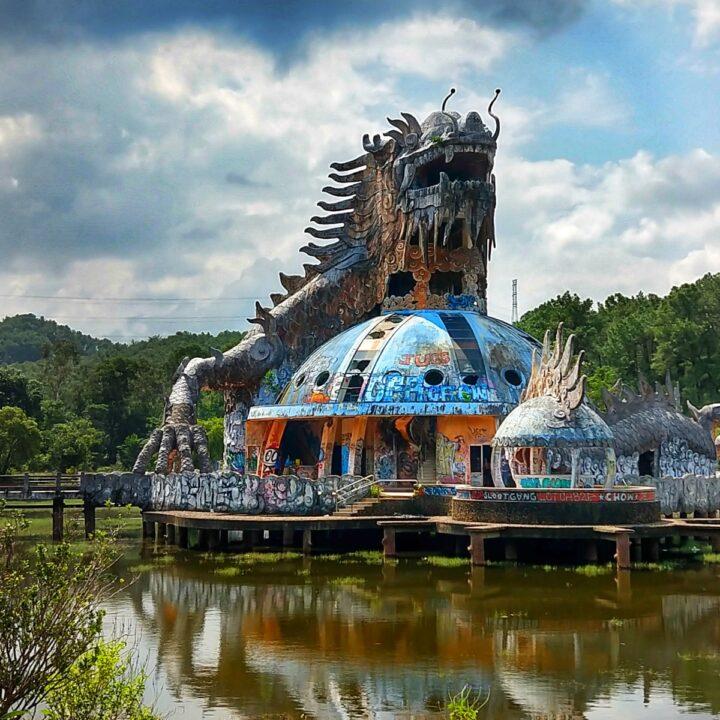 Vietnam giant dragon statue