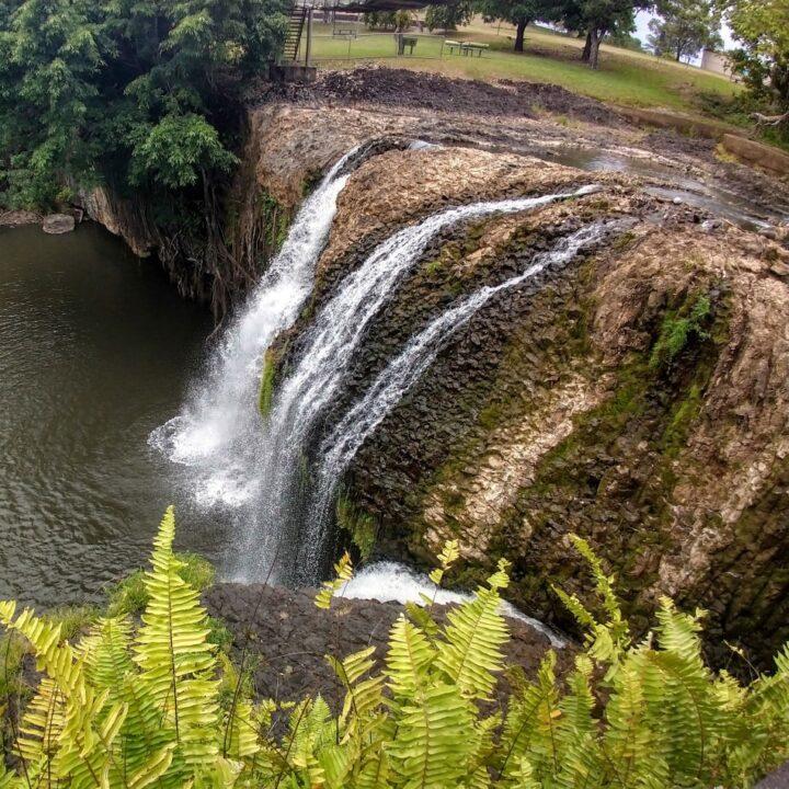 Paronella Park Waterfalls in the dry season