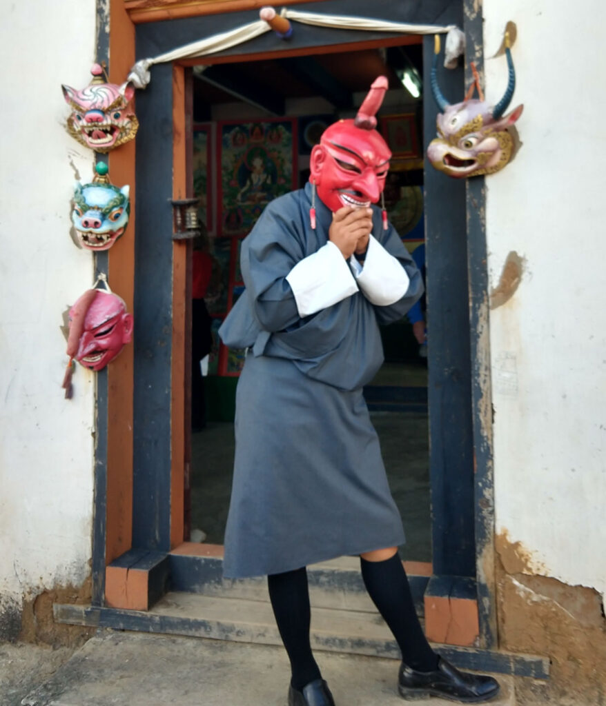 Traditional Bhutan Costume and bhutanese penis mask