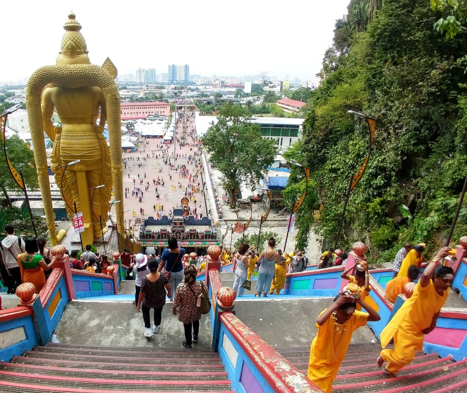 batu caves at thaipusam